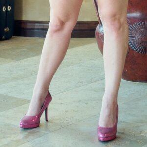 worn-pink-high-heels