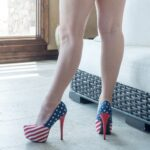 worn-red-white-blue-high-heels