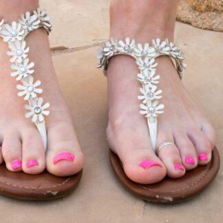 worn-white-sandals