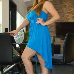 blue-high-low-dress