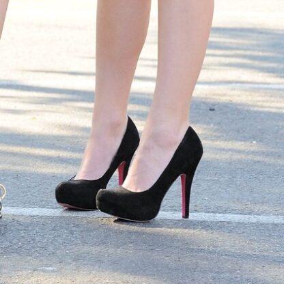 black-suede-high-heels