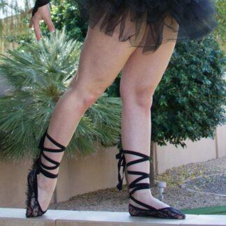 black-lace-ribbon-socks