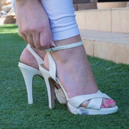 patent-white-high-heels