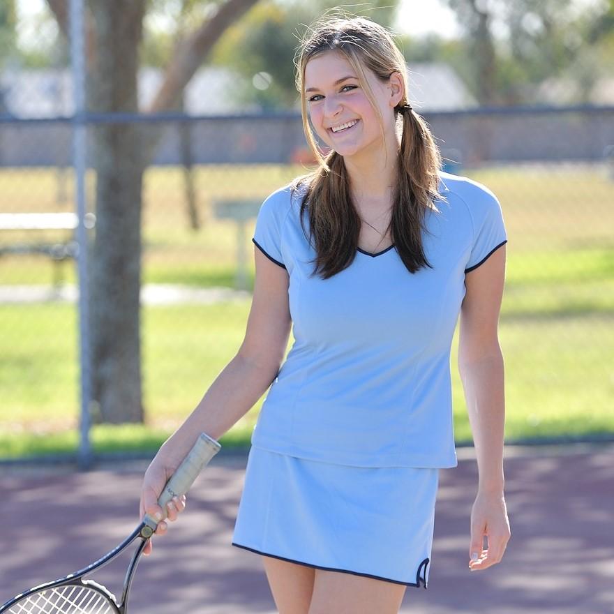 Topless Tennis - Shirt and Skirt