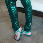 worn-green-sandals