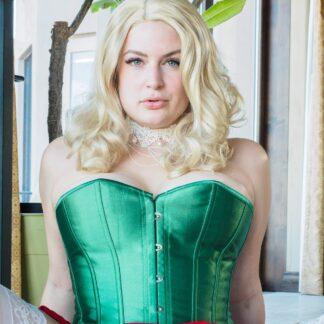 worn-green-corset