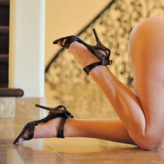 worn-brown-high-heels
