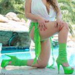 worn-green-high-heels