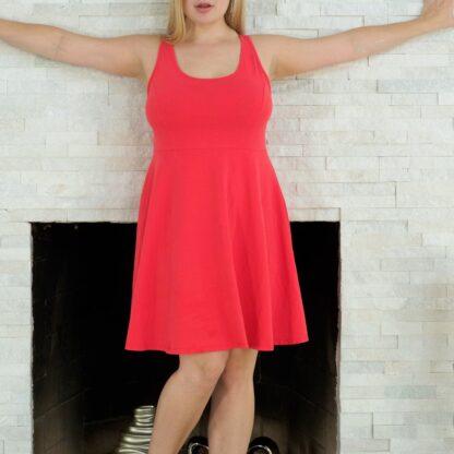 coral-skater-dress