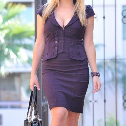purple-skirt-blouse