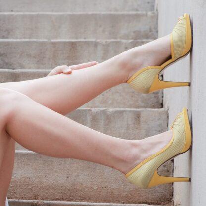 white-yellow-d'orsay-high-heels
