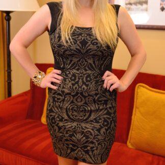 black-gold-Guess-dress